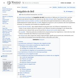 Inégalités de Bell