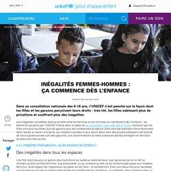 Inégalités femmes-hommes : ça commence dès l'enfance