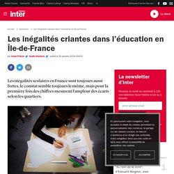 Les inégalités criantes dans l'éducation en Île-de-France