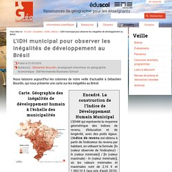 L'IDH municipal pour observer les inégalités de développement au Brésil