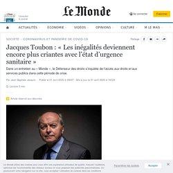 Jacques Toubon: «Les inégalités deviennent encore plus criantes avec l'état d'urgence sanitaire»