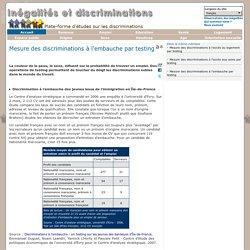 Inégalités et discriminations