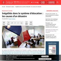 Inégalités dans le système d'éducation : les causes d'un désastre