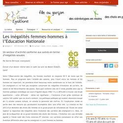 Les inégalités femmes-hommes à l'Education Nationale – L'institut EgaliGone