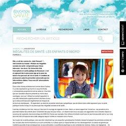 Inégalités de santé : les enfants d'abord !