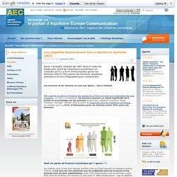 Les inégalités homme-femme face à internet en Aquitaine [AEC]