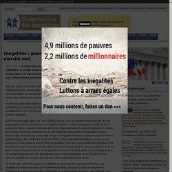 Inégalités: pourquoi le modèle social français marche mal