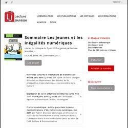 Les jeunes et les inégalités numériques n°143, septembre 2012