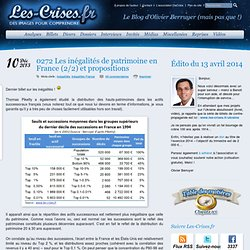 » 0272 Les inégalités de patrimoine en France (2/2) et propositions