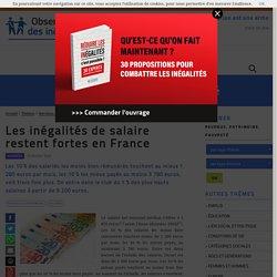 Les inégalités de salaire restent fortes en France