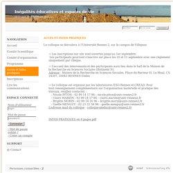 Inégalités éducatives et espaces de vie - Sciencesconf.org