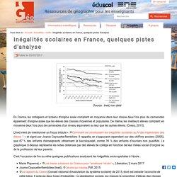 Inégalités scolaires en France, quelques pistes d'analyse