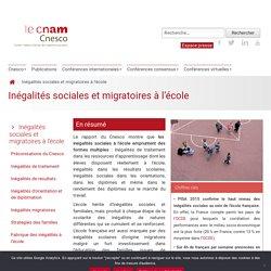 Cnesco - Inégalités sociales