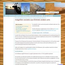 Inégalités sociales aux Emirats arabes unis - Tout sur les Emirats arabes unis