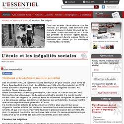 L'école et les inégalités sociales-Journal-essentiel