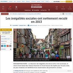 Les inégalités sociales ont nettement reculé en 2013