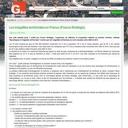 Les inégalités territoriales en France (France Stratégie)