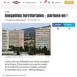 Inégalités territoriales : parlons-en!