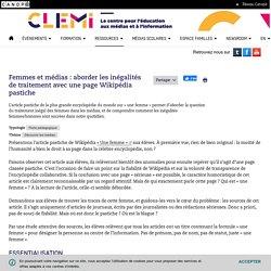 Femmes et médias : aborder les inégalités de traitement avec une page Wikipédia pastiche- CLEMI
