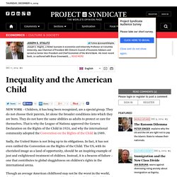 Inequality and the American Child by Joseph E. Stiglitz