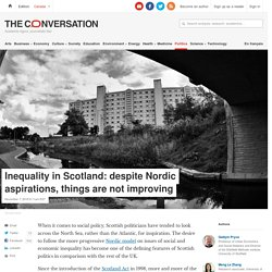 Inequality in Scotland: despite Nordic aspirations, things are not improving