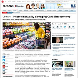 Income inequality damaging Canadian economy - Manitoba