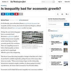 Is inequality bad for economic growth?