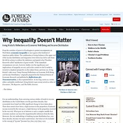 Why Inequality Doesn't Matter