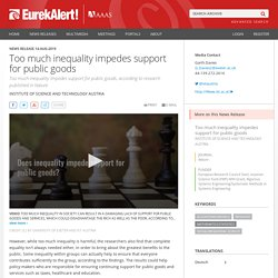 Too much inequality impedes support for public goods