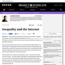 Inequality and the Internet by J. Bradford DeLong