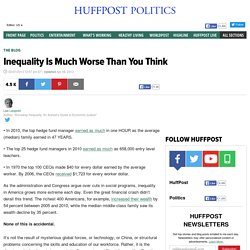 Les Leopold: Inequality Is Much Worse Than You Think