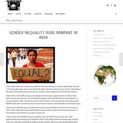 Gender Inequality Runs Rampant in India