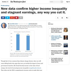 New data confirm higher income inequality and stagnant earnings, any way you cut it.