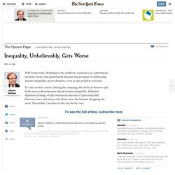 Inequality, Unbelievably, Gets Worse - NYTimes.com
