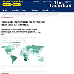 Inequality index: where are the world's most unequal countries?