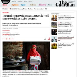 Inequality gap widens as 42 people hold same wealth as 3.7bn poorest