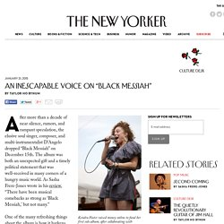 """An Inescapable Voice on """"Black Messiah"""" - The New Yorker"""
