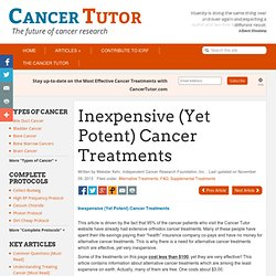 FAQ - Inexpensive Alternative Cancer Treatments