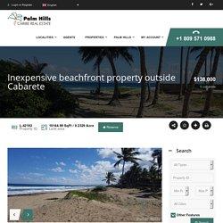 Inexpensive beachfront property outside Cabarete