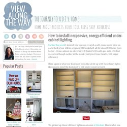 How to install inexpensive, energy-efficient under-cabinet lighting