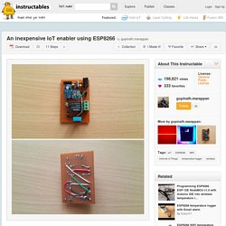 An inexpensive IoT enabler using ESP8266