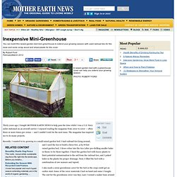 Inexpensive Mini-Greenhouse - DIY