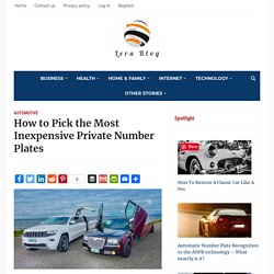 How to Pick the Most Inexpensive Private Number Plates
