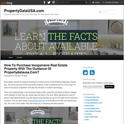How To Purchase Inexpensive Real Estate Property With The Guidance Of Propertydatausa.Com? - PropertyDataUSA.com
