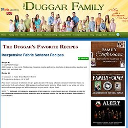 The Duggar Family - Duggar Recipes - Inexpensive Fabric Softener Recipes