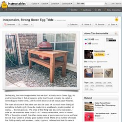 Inexpensive, Strong Green Egg Table