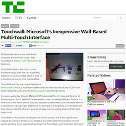 Microsoft TouchWall can inexpensively turn any flat surface into