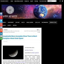 Inexplicable Moon Anomalies Show There is Much Deception About Outer Space