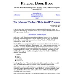 "The Infamous Windows ""Hello World"" Program"