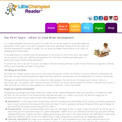 The First Years - Infant to Child Brain Development